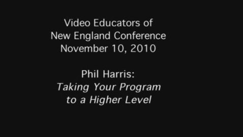 Thumbnail for entry Phil Harris: Taking Your Program To A Higher Level