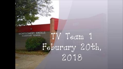 Thumbnail for entry TV Team 1, February 20th 2018