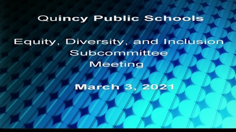 Thumbnail for entry Equity, Diversity and Inclusion Subcommittee March 3, 2021