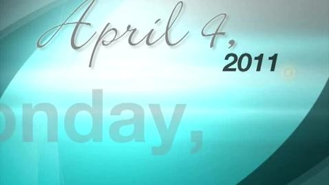 Thumbnail for entry Monday, April 4, 2011