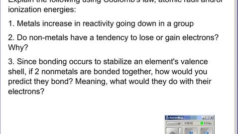 Thumbnail for entry Stephens Pre-AP Chemistry: 3 types of Bonding
