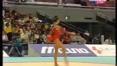 Thumbnail for entry Alina Kabaeva ball 1999