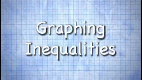 Thumbnail for entry Graphing Inequalities