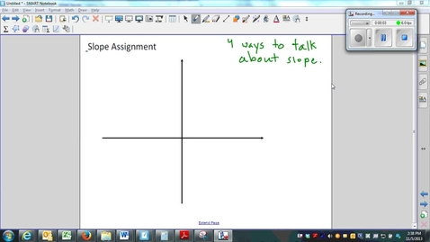 Thumbnail for entry Slope- 4 ways to talk about slope