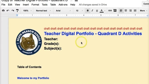 Thumbnail for entry Google Drive - Table of Contents