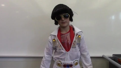 Thumbnail for entry 2017 - 4th Grade Wax Museum - Bear is Elvis
