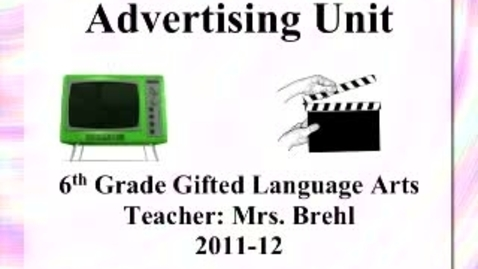 Thumbnail for entry MMS 6th Grade Advertisements - 2011