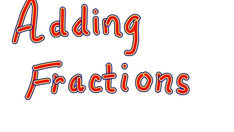 Thumbnail for entry Adding Mixed Fractions by Mrs. Black