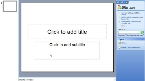 Thumbnail for entry How To Use Microsoft PowerPoint