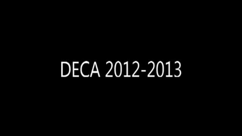 Thumbnail for entry DECA 2012-2013 Banquet Video