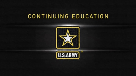 Thumbnail for entry U.S. Army: Continuing Education