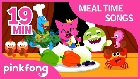 Thumbnail for entry Yum yum, Eat Healthy | Meal Time Song | +Compilation | Pinkfong Songs for Children