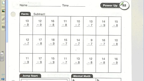 Thumbnail for entry Math Lesson 52 (Length and Width)