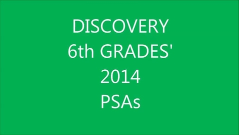 Thumbnail for entry Go Green PSA by 6th Grade Mrs. Loomis