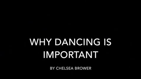 Thumbnail for entry Why Dance is Important