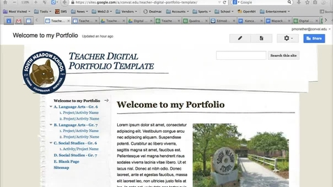 Thumbnail for entry Google Sites - Adopting a Portfolio Template