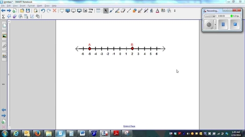 Thumbnail for entry Measuring Segments, the length of a line segment between 2 points-Q1&Q2