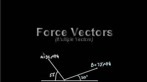 Thumbnail for entry Force Vectors (multiple vectors)