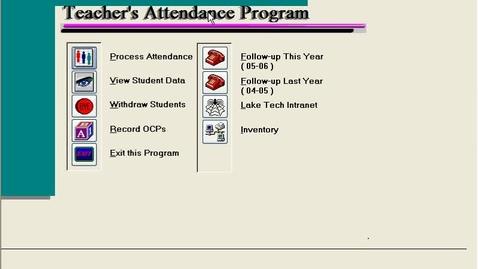 Thumbnail for entry TOM system Attendance
