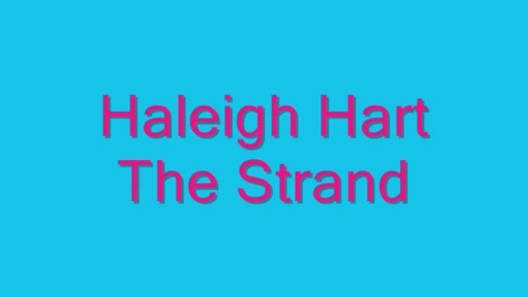 Thumbnail for entry Haleigh Hart Career Shadowing Video