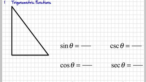 Thumbnail for entry Basic Trigonometry Functions Intro