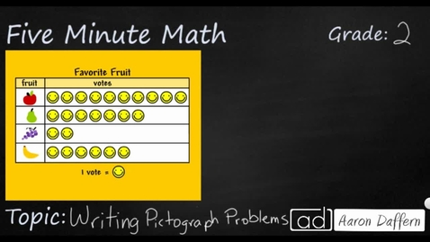 Thumbnail for entry 2nd Grade Math Writing Pictograph Problems