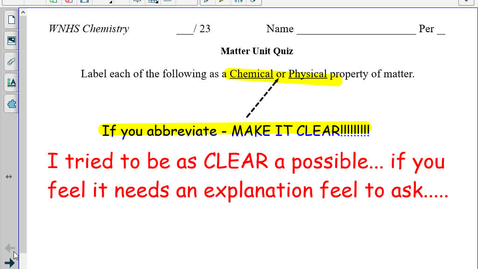Thumbnail for entry Matter Notes (part four) Law of Conservation of Mass.