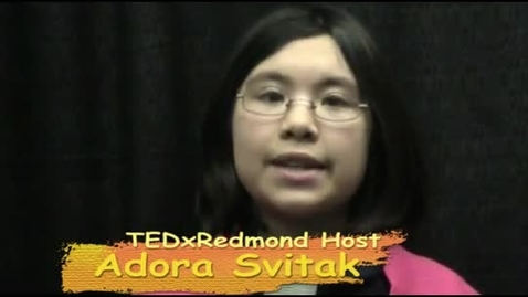 Thumbnail for entry Adora Svitak TEDxRedmond Host Interview