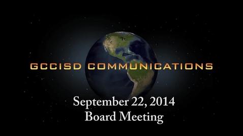 Thumbnail for entry September 22, 2014 Board Meeting