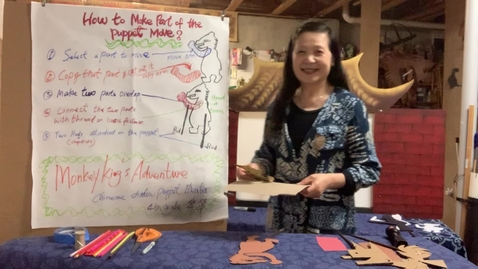 Thumbnail for entry 4thGr Chinese ShadowPuppet Theater T.HuaHua Lesson 9