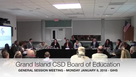 Thumbnail for entry GICSD Board of Education 1-8-2018 Meeting