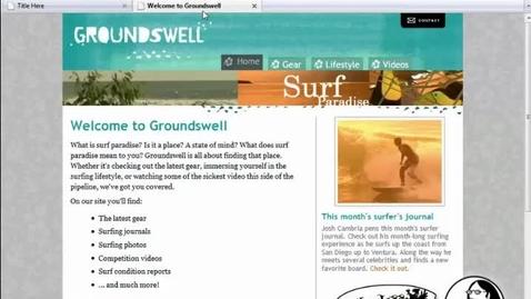 Thumbnail for entry HTML Website Lesson 1