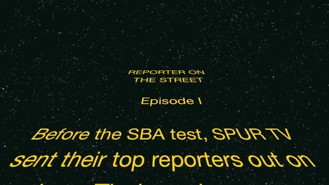 Thumbnail for entry SPUR TV Presents REPORTER ON THE STREET Episode I