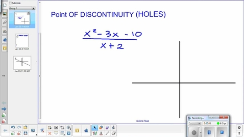 Thumbnail for entry Graphing rational functions lesson pt 4    1-20-15