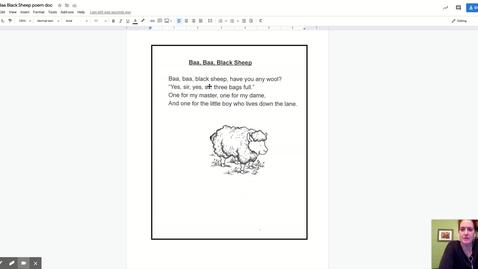 Thumbnail for entry Baa Baa Black Sheep poem doc - Google Docs