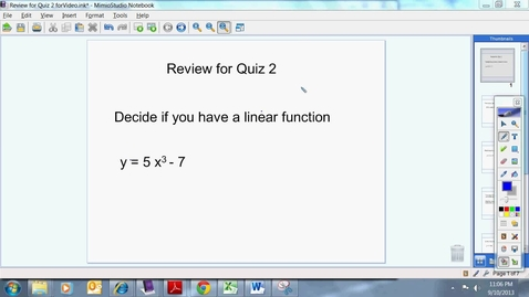 Thumbnail for entry Review for Quiz 2