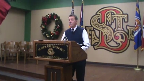 Thumbnail for entry 11/23/15 Press Conference with St. Louis Fire Chief Dennis Jenkerson