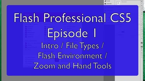 Thumbnail for entry Introduction to Flash Professional CS5 for East Tech