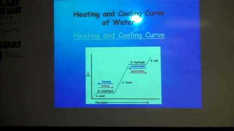 Thumbnail for entry Unit 10 Heating and Cooling Curve