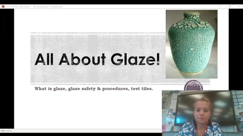 Thumbnail for entry All About Glaze Video Presentation