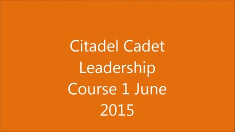 Thumbnail for entry Citadel CLC 1 June 2015 Edisto High