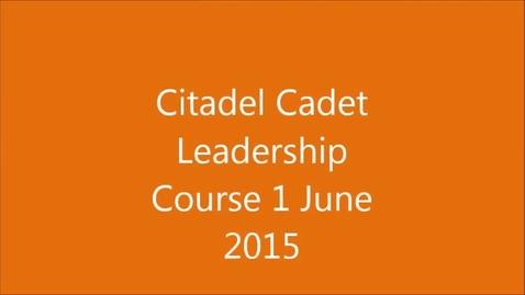Thumbnail for entry Citadel CLC 1 June 2015 Edisto High