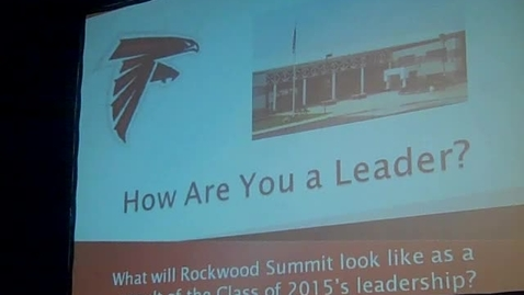 Thumbnail for entry Teaching the Class of 2015 LEADERSHIP