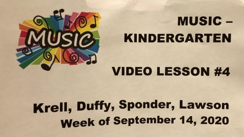 Thumbnail for entry Kinder Music Lesson #4