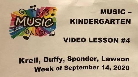 Thumbnail for entry Kinder Music Lesson #4