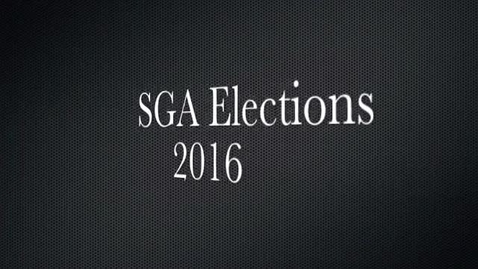 Thumbnail for entry SGA Election Speeches 2016