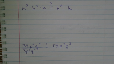 Thumbnail for entry Evaluating Expressions with Exponents