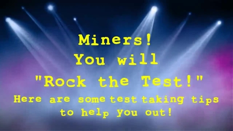 Thumbnail for entry CWM CST Test Advice Video 2013