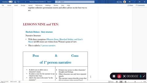 Thumbnail for entry Sherlock Holmes Lesson 9