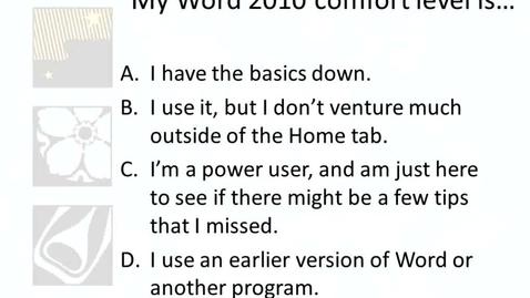 Thumbnail for entry ASL Tech Talk - Microsoft Word Tips